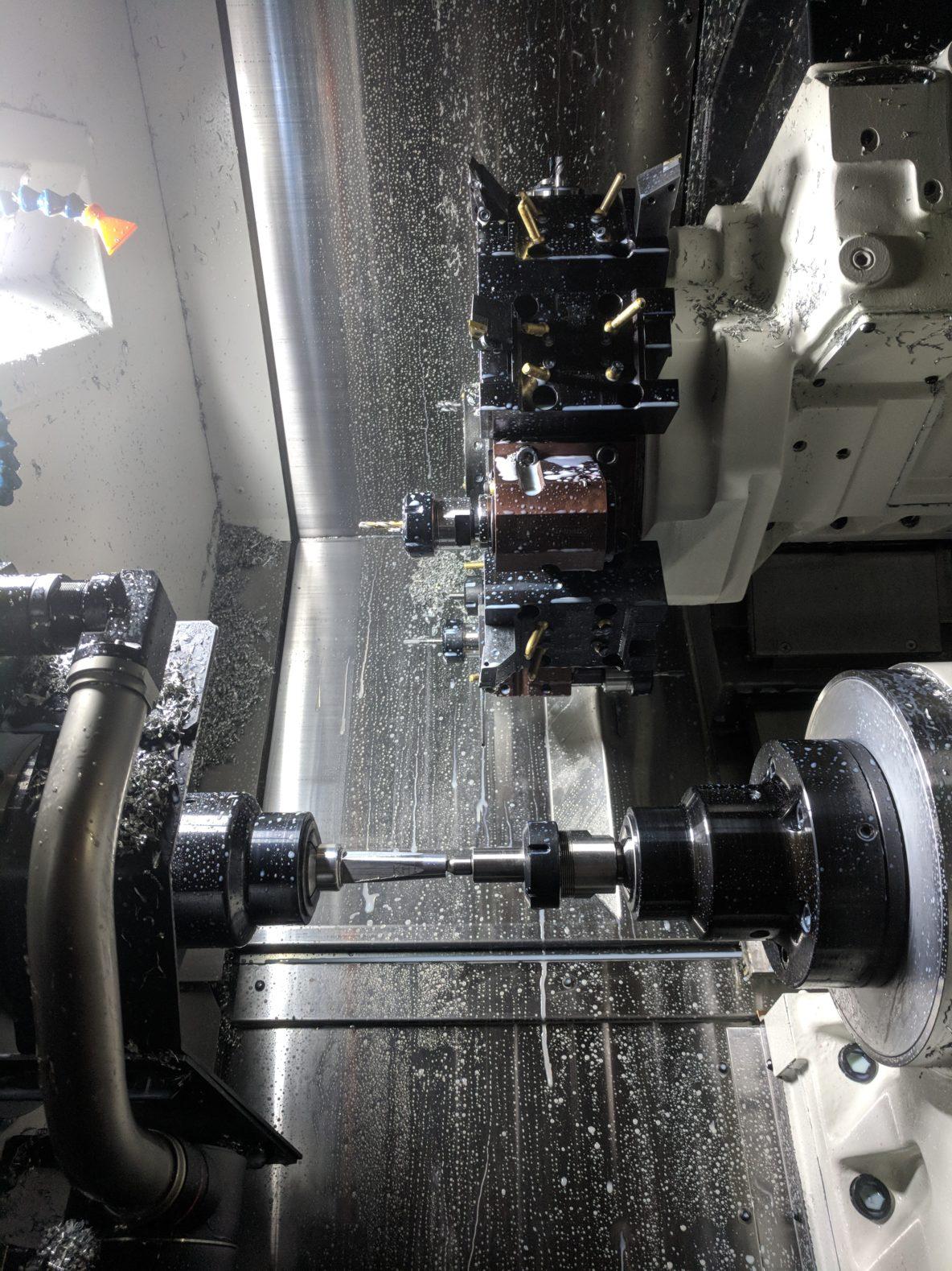 image of a cnc lathe
